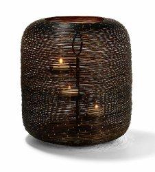 Philippi BOTSWANA Lampion Tealight 25 cm Czarno/Złoty