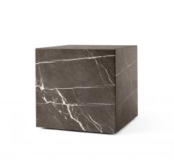 Menu PLINTH Stolik Kwadratowy - Postument Marmurowy - Brązowy Marmur