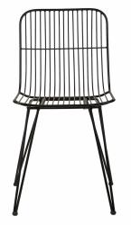 Villa Collection NORDIC Krzesło Metalowe - Czarne