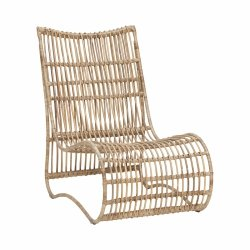 Hübsch LOUNGE Fotel Ratanowy - Naturalny