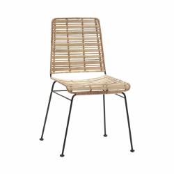 Hübsch LOUNGE II Krzesło Ratanowe - Naturalne