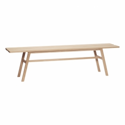 Hübsch OAK Ławka 180 cm z Drewna Dębowego