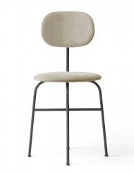 Menu AFTEROOM Krzesło Czarne Tapicerowane - Tkanina Savanna 202