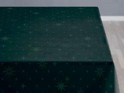 Sodahl CHRISTMAS STELLA Obrus Świąteczny na Stół 140x180 cm Ciemnozielony