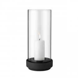 Stelton HURRICANE Lampion - Świecznik 29 cm Czarny