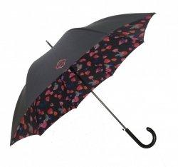 Smati DUO Długi Parasol z Podwójnej Tkaniny - Płatki Kwiatów