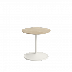Muuto SOFT SIDE Stolik Okrągły 40 cm Biały / Blat 41 cm Dąb Naturalny