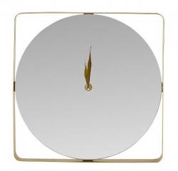 Villa Collection GOLD Zegar Ścienny z Lustrzaną Taflą - Złoty
