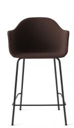 Menu HARBOUR Krzesło Barowe 102 cm Hoker Czarny - Siedzisko Tapicerowane Ciemnoczerwone