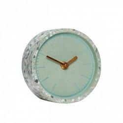 Hübsch CLOCK Zegar Stołowy z Lastryko - Zielony