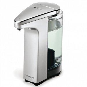 simplehuman SENSOR Bezdotykowy Automatyczny Dozownik z Czujnikiem do Mydła, Żelu Antybakteryjnego, Płynu - Srebrny