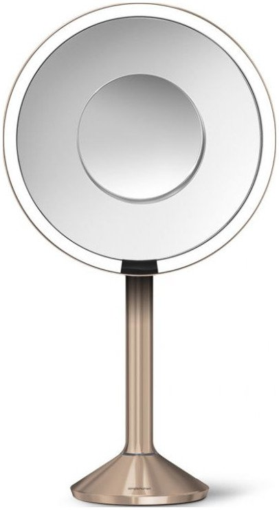 Simplehuman SENSOR Lustro Kosmetyczne do Makijażu - Powiększające, z Podświetleniem 20 cm - Różowe Złoto