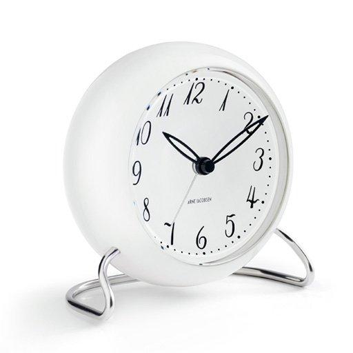 Rosendahl ARNE JACOBSEN Zegarek Stołowy - Budzik Biały - LK