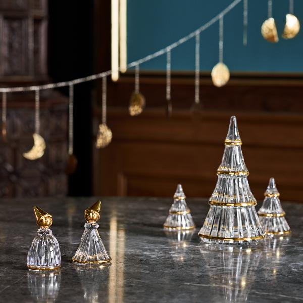 Holmegaard CHRISTMAS Świąteczna Choinka Dekoracyjna 9 cm Złota