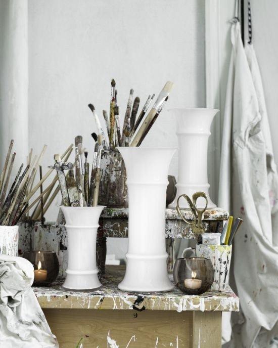 Holmegaard MB - Wazon Biały 22,8 cm