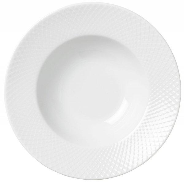 Lyngby Porcelain RHOMBE Talerz Głęboki do Makaronu 24,5 cm
