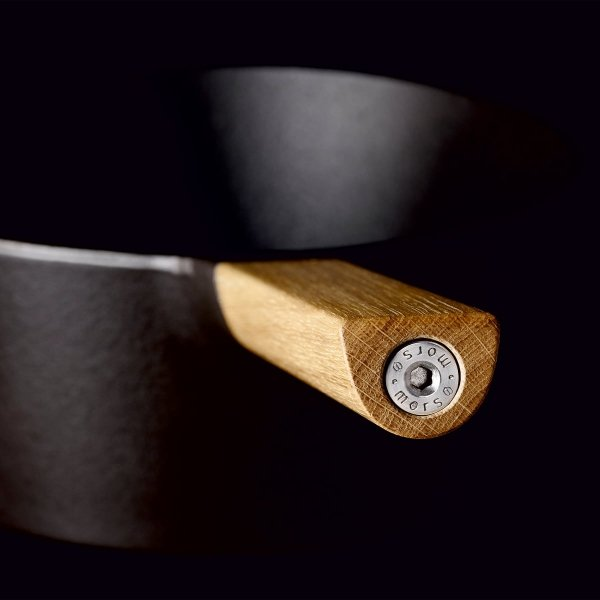 Morso FRYING PAN Patelnia Żeliwna 28 cm z Drewnianym Uchwytem