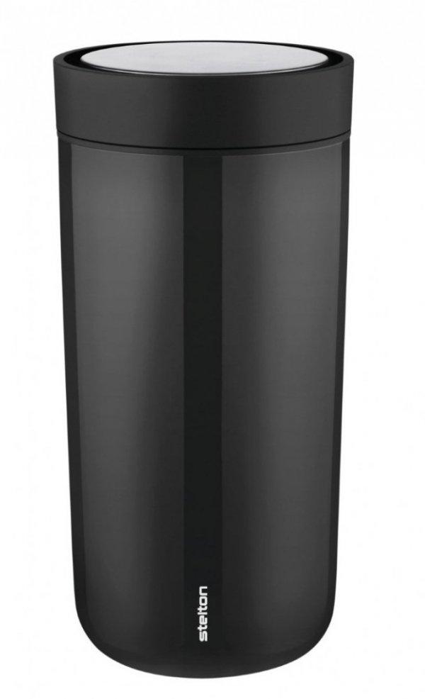 Stelton TO GO CLICK Stalowy Kubek Termiczny 400 ml Czarny