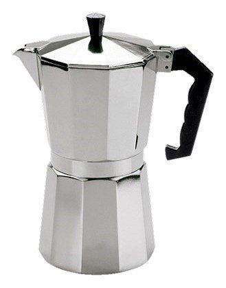 Cilio Kawiarka Aluminiowa - Kafeteria do Espresso 300 ml - Srebrna