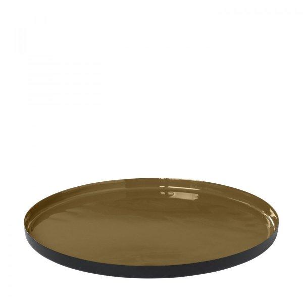 Blomus VISO Okrągła Taca Dekoracyjna 30 cm Dull Gold