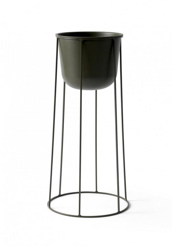 Menu WIRE BASE Kwietnik - Donica na Drucianej Podstawie 60 cm Ciemnozielony - Olive