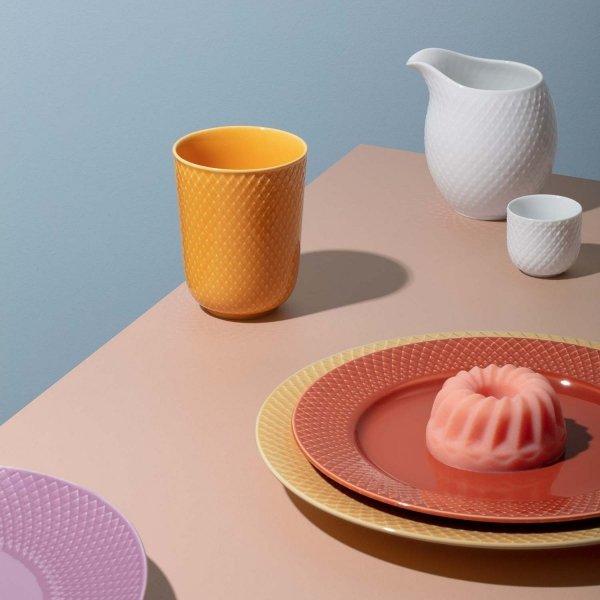 Lyngby Porcelain RHOMBE COLOR Kubek bez Ucha 330 ml Terracotta