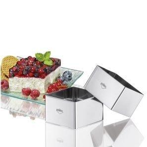 Küchenprofi - Zestaw 4 Foremek do Deserów i Dekoracji Kwadrat