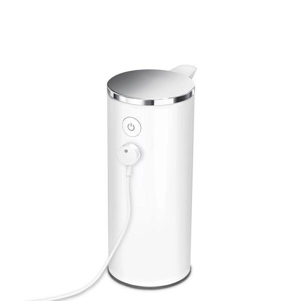 Simplehuman SENSOR Stalowy Automatyczny Dozownik do Mydła, Płynu, Żelu Antybakteryjnego - Akumulatorowy 266 ml Biały