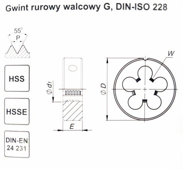 NARZYNKA  G1/4 GWINT RUROWY, WALCOWY  DIN-24231  FANAR