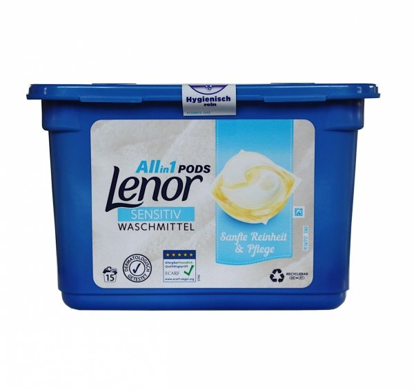 Lenor Sensitiv All in1 kapsułki do prania 15 szt