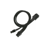 Nanoxia PCI-E 6- to 6+2-Pin Adaptor, Single Sleeve 30cm