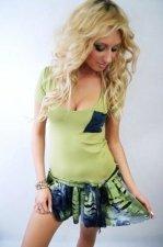 sukienka falbana zielona S