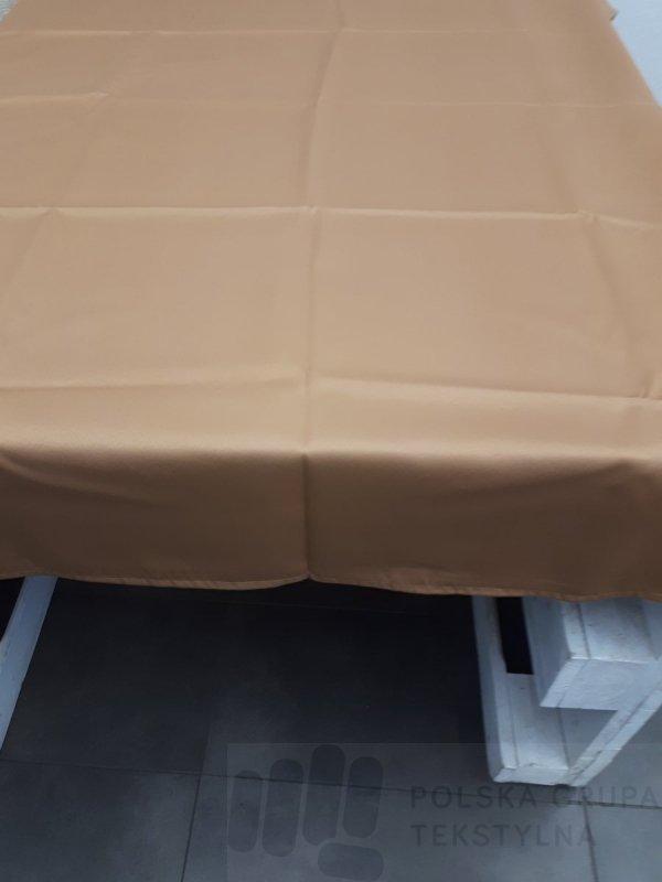 Obrus hotelowy Estetic gładki kolor jasnobrązowy