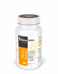 Bene Vobis - Witamina D3 2000IU + K2 MK7 (vitaMK7®) 100mcg - 60 kaps.