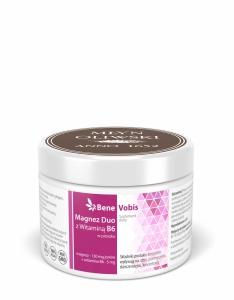 Bene Vobis - Magnez DUO z witaminą B6 (cytrynian magnezu + mleczan magnezu) - 250g