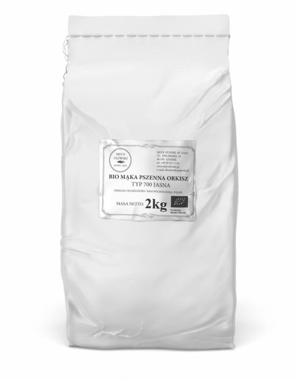 Mąka pszenna orkiszowa typ 700 (jasna) - 2kg