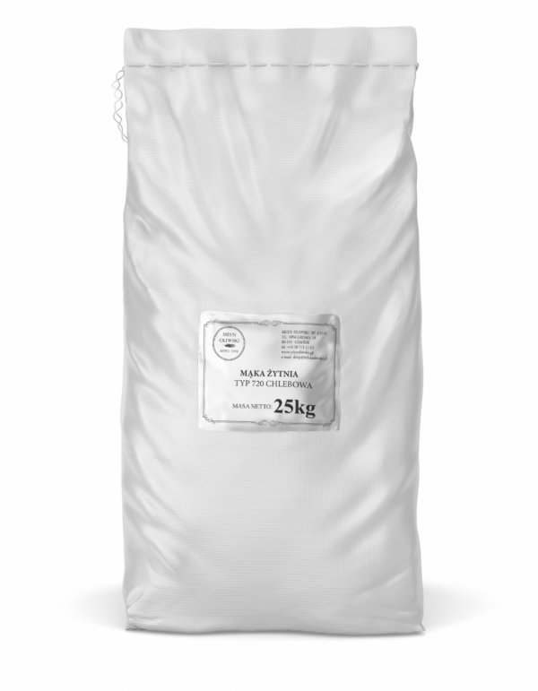Mąka żytnia typ 720 (chlebowa) - 25kg