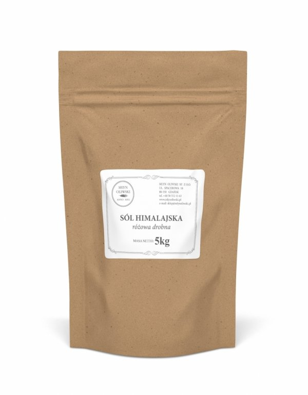 Sól himalajska różowa - drobna (0,4 - 0,85mm) - 5kg