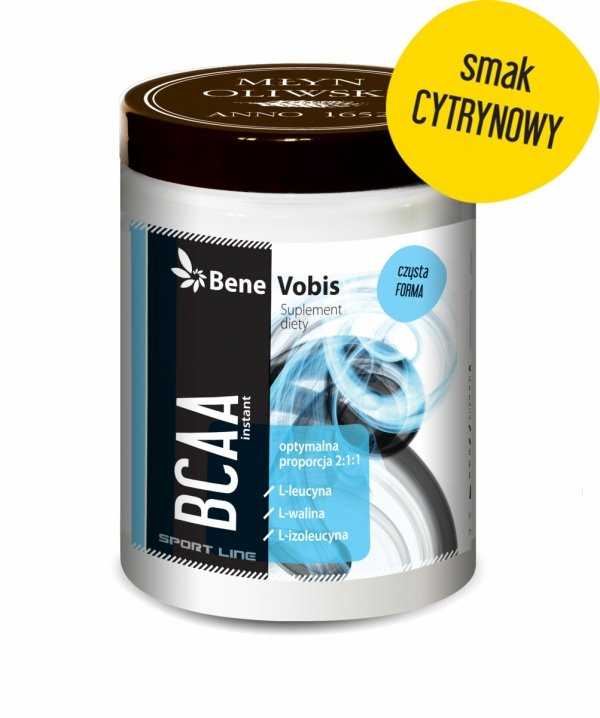 BCAA 2:1:1, L-cytrulina, L-glutamina, witamina B6, witamina D - smak cytrynowy - proszek - 500g