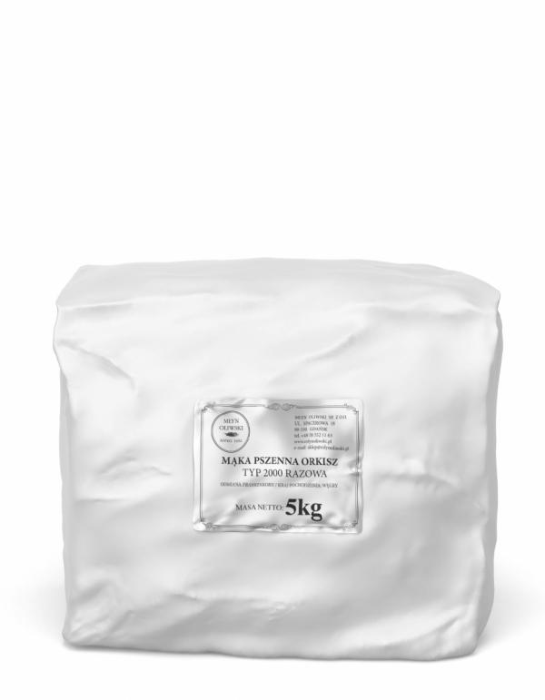 Mąka pszenna orkiszowa typ 2000 (razowa) - 5kg