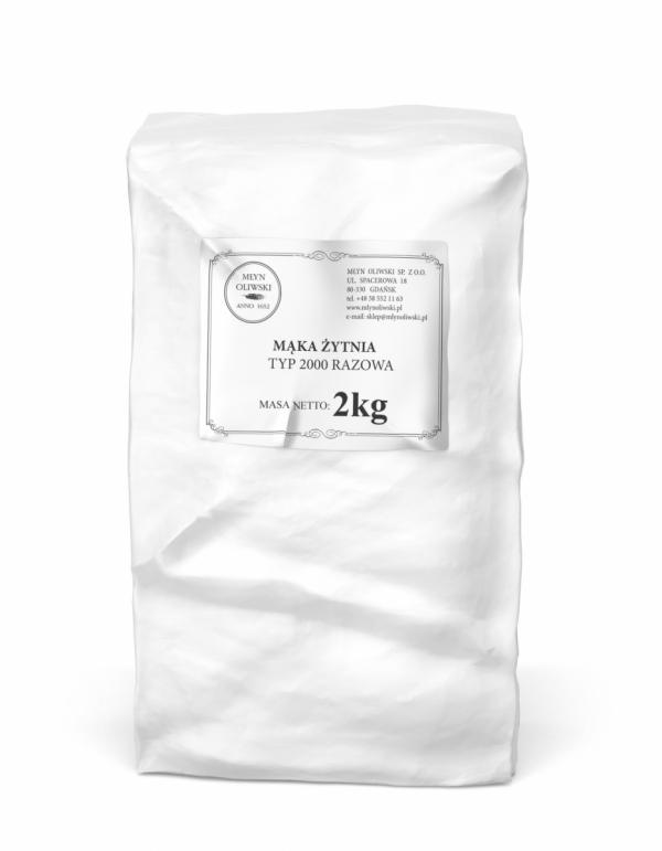 Mąka żytnia typ 2000 (razowa) - 2kg