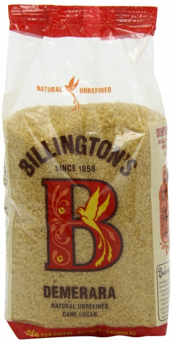Billington's demerara Natural Unrefined Cane Sugar - Nierafinowany cukier trzcinowy - Demerara - oryginalne opakowanie - 0,5kg