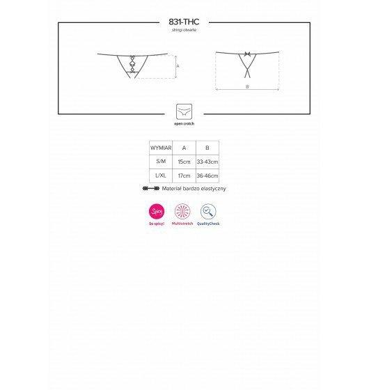 831-THC-1 stringi otwarte czarne S/M