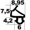 Uszczelka do okien Veka Skrzyd. Czarna KV5 (S1127)