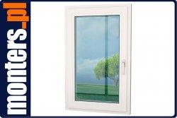 Okno PCV 865x1430 Aluplast UR lewe białe
