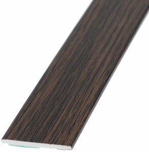 Płaskownik 30mm samoprzylepny ciemny dąb 3m okienn