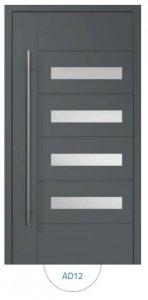 Drzwi wejściowe zewnętrzne Aluprof MB86 wzór AD12