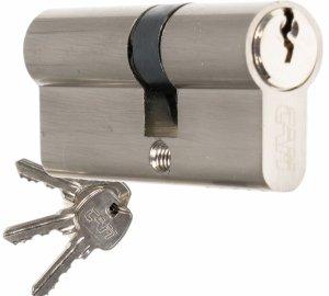 Wkładka CAM EKO 30/40 nikiel zamka drzwi furtki
