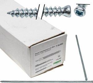 Wkręty 7,5x302 TX30 walcowy ościeżnic okien 100szt