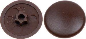 Zaślepki TX30 do wkrętów 7,5mm okien brązowe 200szt